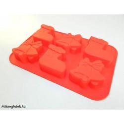 Piros karácsonyi szilikon sütemény forma
