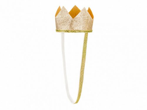 Korona, arany színben