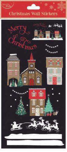 Karácsonyi falmatrica, karácsonyi házak