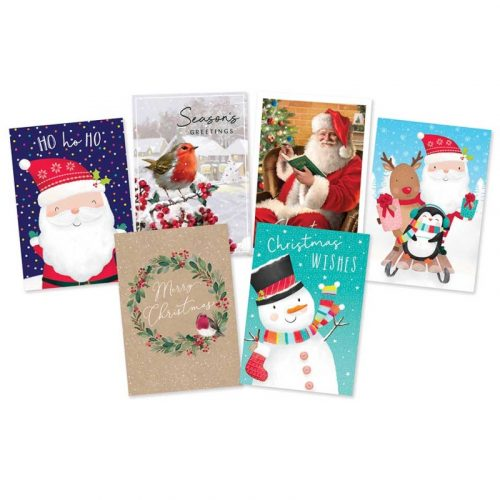 Karácsonyi üdvözlőkártya, 30 db/doboz