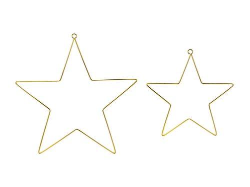 Fém függő dísz, csillag, 1 szett/2db