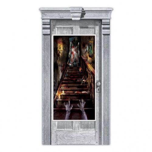 Haunted Mansion - Elvarázsolt Véres Kísértetház Ajtódekoráció, 165 cm x 85 cm