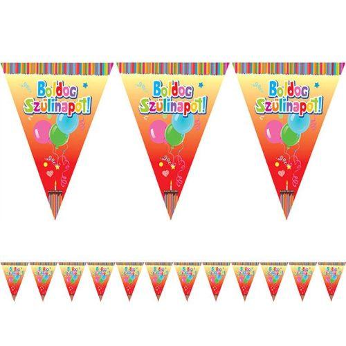 Boldog Szülinapot! Feliratos Zászlófüzér - 6 m