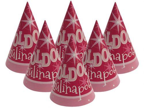 Boldog Szülinapot Rózsaszín Lányos Parti Csákó - 6 db-os