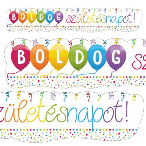Boldog Szülinapot! Streamers Parti Banner - 148 cm x 27 cm