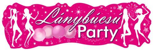 Lánybúcsú Party Banner - 90 cm x 27 cm