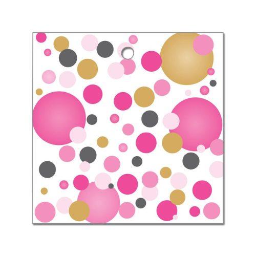 Rózsaszín pasztelll Konfettis Környezetbarát Léggömbsúly - 16 gr. (10 db/csomag)