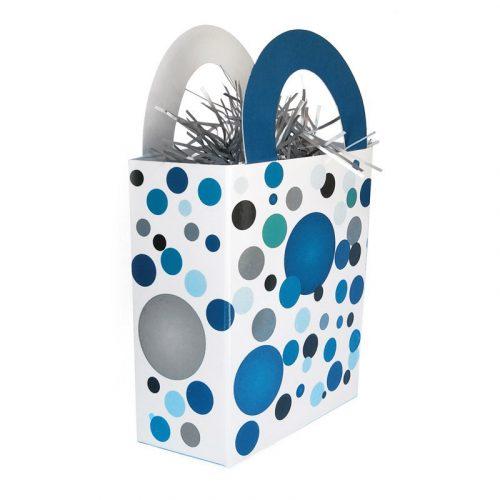 Kék pasztelll Konfettis Ajándéktasak Léggömbsúly - 120 gramm